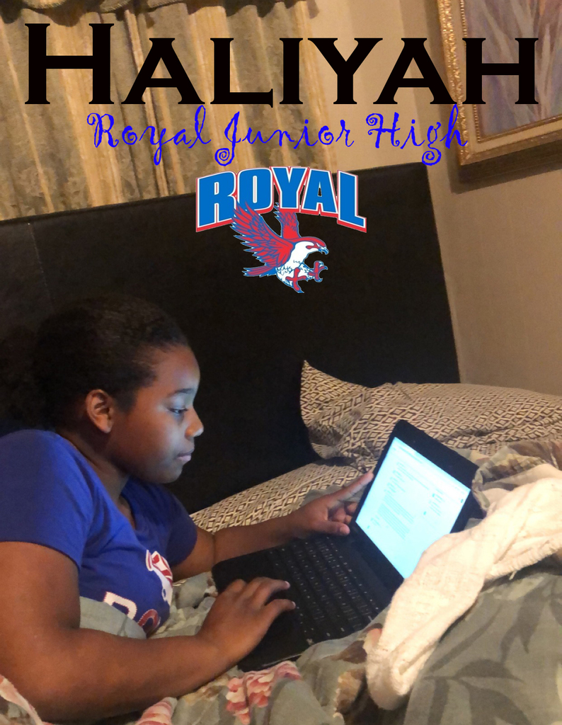 RJH student Haliyah learning@home!