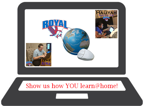 How do YOU learn@home? Share your pictures by emailing them to falcons@royal-isd.net!