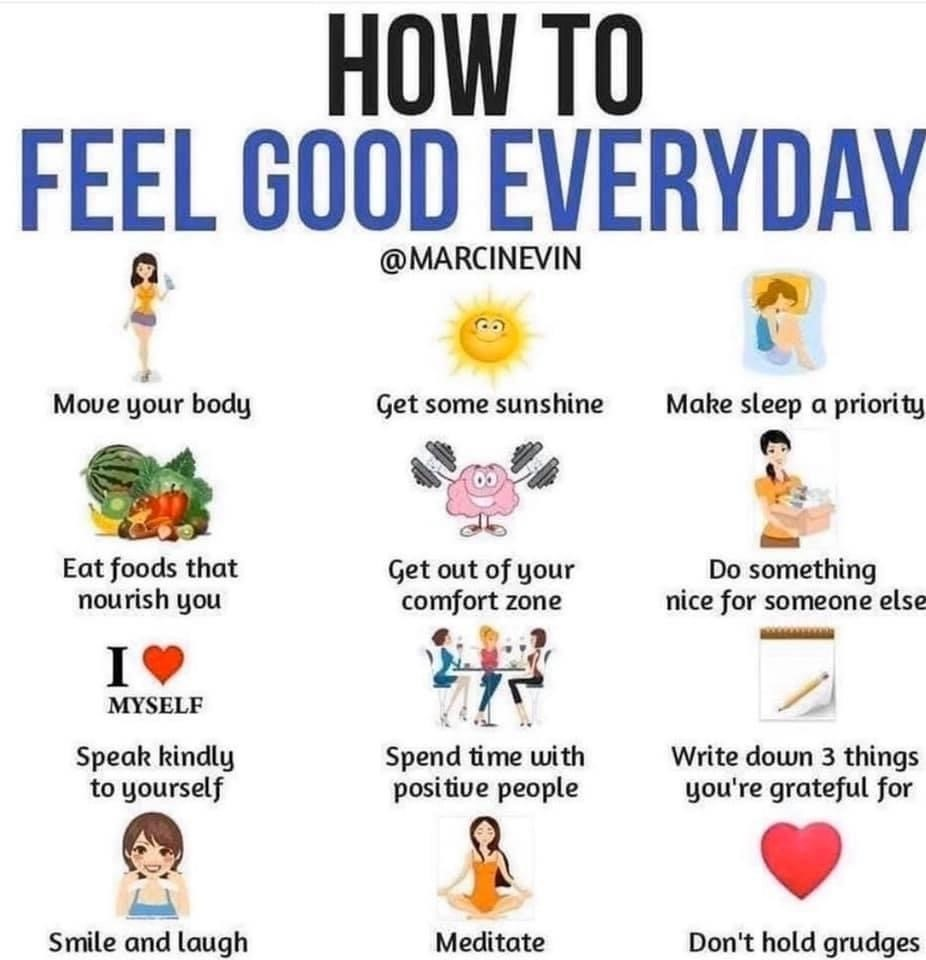 Ideas and tips to help you feel good everyday!