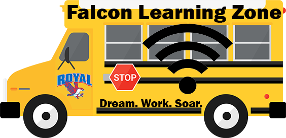 "Reminder! RUSD ""Falcon Learning Zones"" start today at 9:00 AM, providing free WiFi to our students. Visit https://www.royal-isd.net/article/239413?org=royal-isd for locations and complete details!"