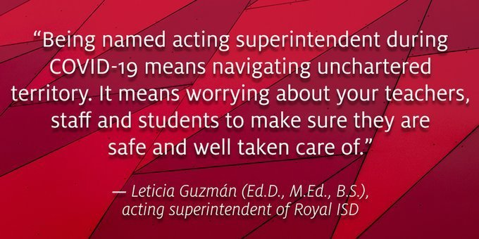 Bit.ly/35F2Hyg — 100,000 cheers for Dr. Guzman!  She took on the role of RISD Acting Superintendent during a time of unprecedented chaos. She exhibits grace, empathy, and professionalism while working tirelessly to keep the RISD team and community sane, healthy, and safe.