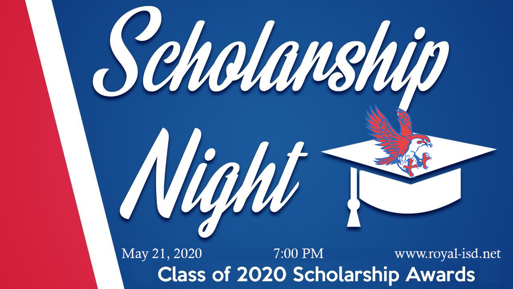 Reminder! The Class of 2020 Virtual Scholarship Awards Ceremony is tonight! The ceremony will be a video that is posted on the RISD website at 7pm today, May 21, 2020. Please join us as we celebrate the Royal Falcon Class of 2020!