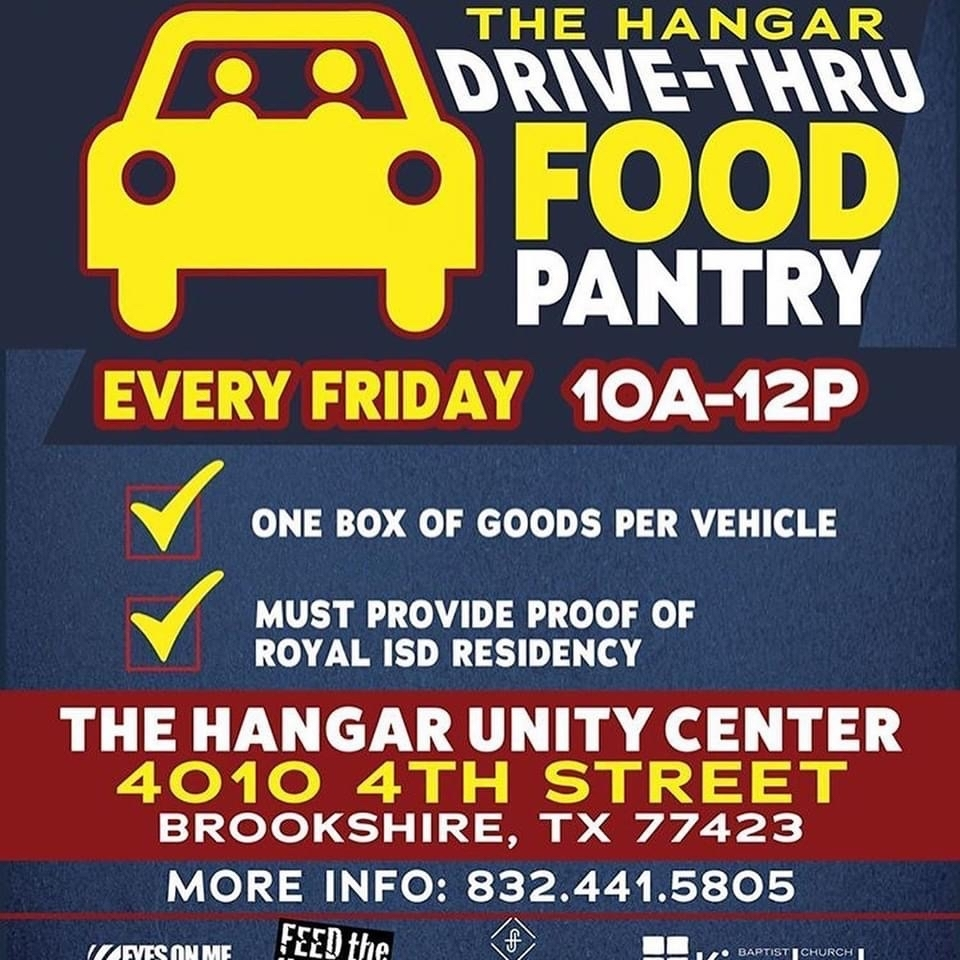 Friday Food Pantry at The Hangar Brookshire
