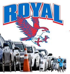 During the week of July 19, Falcon Drive Thru meals will be distributed at Royal Elementary on Thursday, July 23 ONLY.  Social distancing practices are in effect. Visit https://www.royal-isd.net/o/royal-isd/page/food-services--501 for more information.