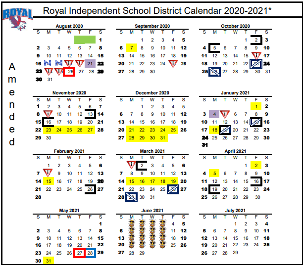 Good morning, Falcons! The amended 2020-2021 Academic Calendar is available at https://5il.co/ior1