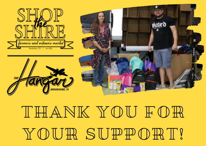 Reminder! School supply distribution today from 10am - 12pm at The Hangar Unity Center. Thank you again to Shop the Shire Farmer's Market and  The Hangar. Details: https://www.royal-isd.net/article/290869?org=royal-isd